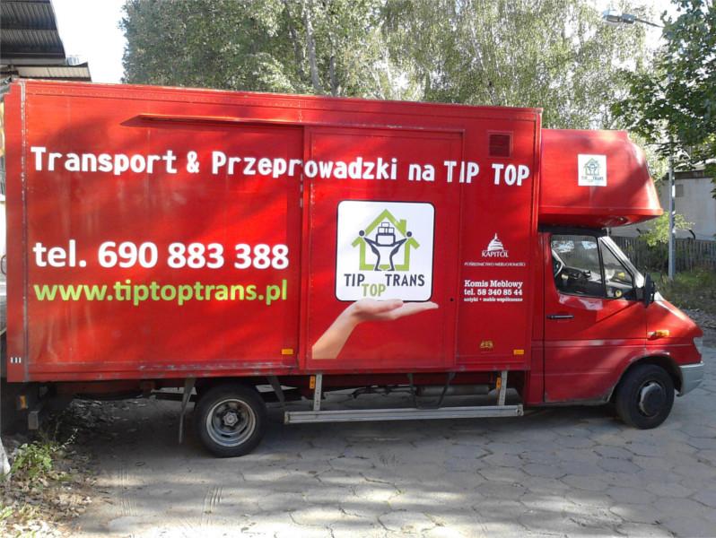 samochód przeprowadzkowy TipTopTrans